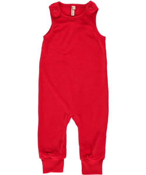 Maxomorra Playsuit Velour Red (56, 62, 74 )